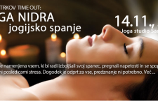 14.11., 20h TIME OUT: JOGA NIDRA, jogijsko spanje