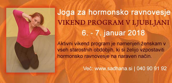 JOGA ZA HORMONSKO RAVNOVESJE: Vikend intenziv v Ljubljani, 6. – 7. Januar 2018