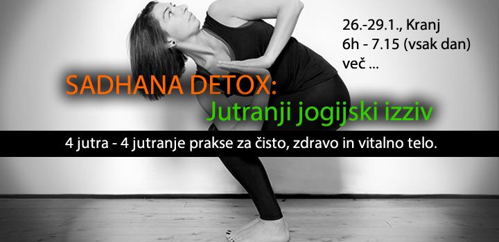 SADHANA DETOX: Jutranji jogijski izziv