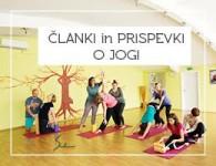 Članki in prispevki o jogi