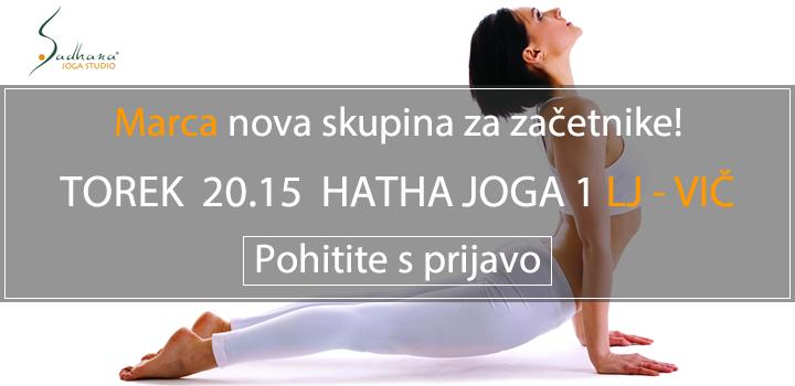ŽE MARCA NOVA SKUPINA ZA ZAČETNIKE: LJ VIČ TOREK 2015