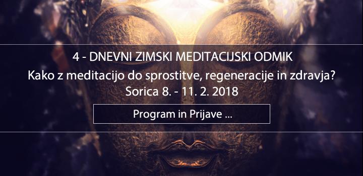 4-DNEVNI SADHANA ZIMSKI MEDITACIJSKI ODMIK, 8.-11.2.2018