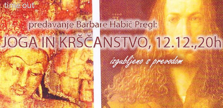 JOGA IN KRŠČANSTVO, PREDAVANJE 12.12., 20h