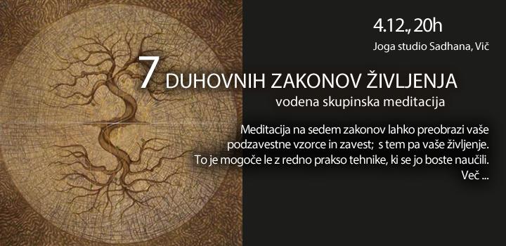 4.12. VODENA MEDITACIJA: 7 DUHOVNIH ZAKONOV ŽIVLJENJA