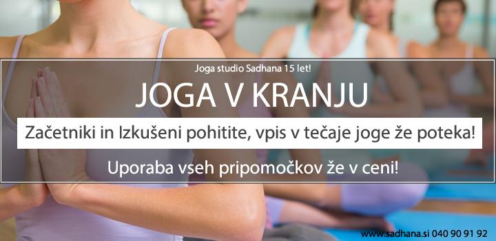 JOGA KRANJ Tečaj joge – VPIS POTEKA