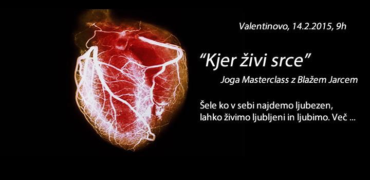 KJER ŽIVI SRCE: Masterclass 14.2.2015