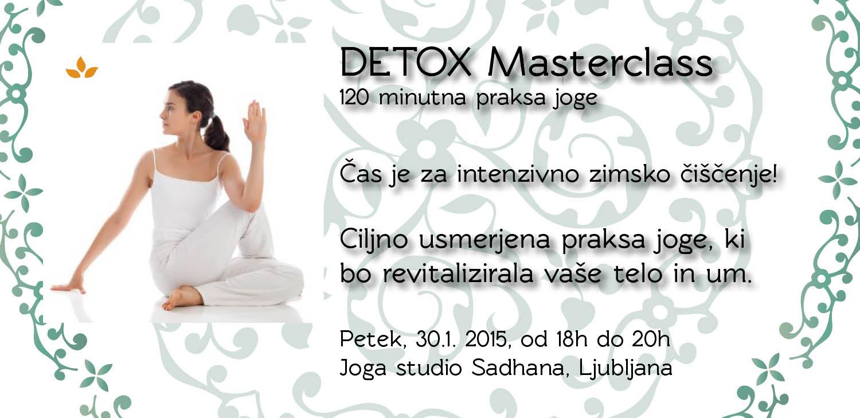 DETOX Masterclass V LJUBLJANI