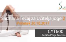 CYT600: Sadhana Tečaj za Učitelja Joge 2