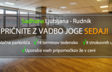 Joga v Ljubljani: VPIS POTEKA