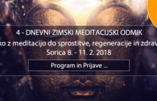 8. – 11.2.  4-DNEVNI SADHANA ZIMSKI MEDITACIJSKI ODMIK