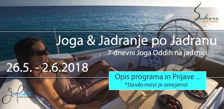 JOGA JADRANJE PO JADRANU 26. 5. – 2. 6. 2018