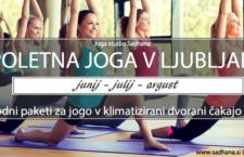Poletna joga v Ljubljani