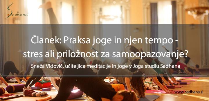 Joga studio Sadhana, joga Ljubljana, Sneža Vidovič
