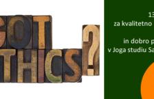13 pravil za kvalitetno prakso joge in dobro počutje v Joga studiu Sadhana