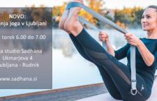 Jutranja joga v Ljubljani vsak torek ob 6:00