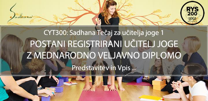 Tečaj za učitelja joge (CYT300, RYS200, mednarodno priznana diploma), pričetek: 16.11.2019