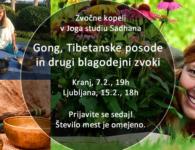 7.2. in 15.2. Zvočna kopel: Gong, Tibetanske posode in …