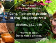 15.2. Zvočna kopel: Gong, Tibetanske posode in …