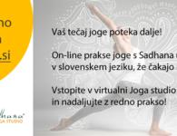ejoga.si – vaš tečaj joge v času izrednih razmer poteka on-line