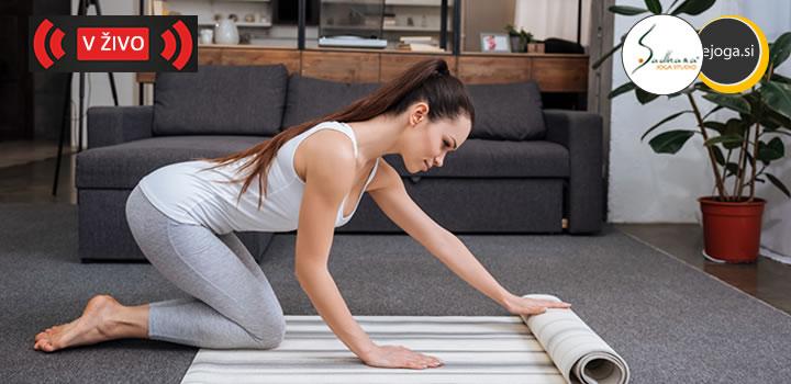 Spletni tečaj joge  V ŽIVO